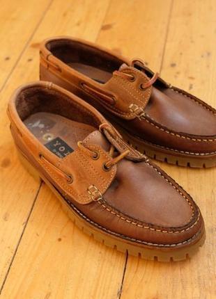 Кожаные прошитые туфли 38 размер