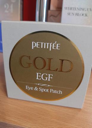 Гидрогелевые патчи для век petitfee gold & egf hydrogel eye patch 90 шт
