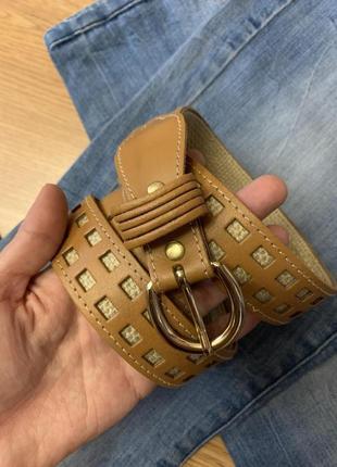 Фирменный бежевый ремень accessorize,ремешок,пояс