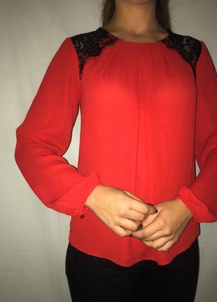 Блузка, рубашка с кружевом