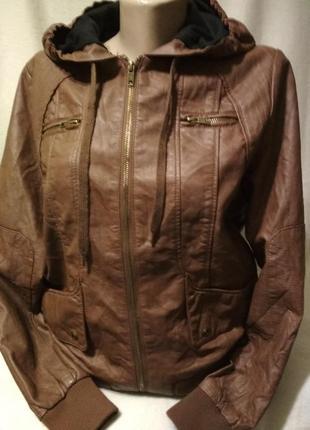 Куртка из экокожи,46-48р