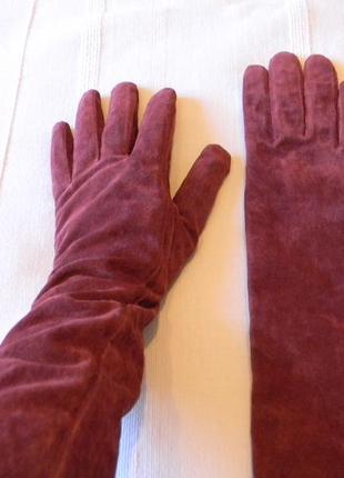 Avant premiere длинные замшевые перчатки размер 7,5