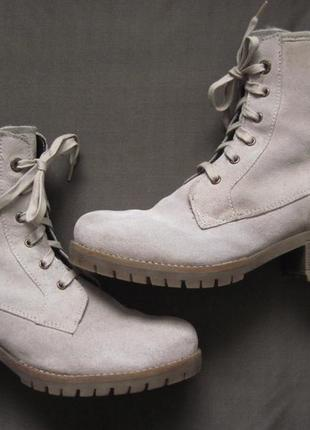 S.oliver (40) зимние замшевые ботинки женские