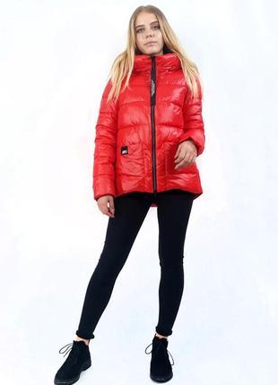 Куртка женская зимняя rufuete. яркий красный цвет