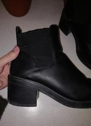 Масивные ботинки на каблуке new look