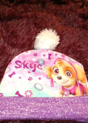 Теплая шапка на флисе щенячий патруль