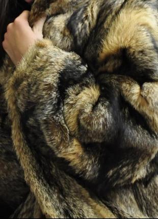 Шуба из натурального волка