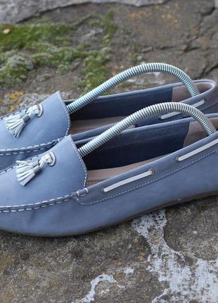 Туфлі мокасини marks & spencer оригінал нат шкіра нубук
