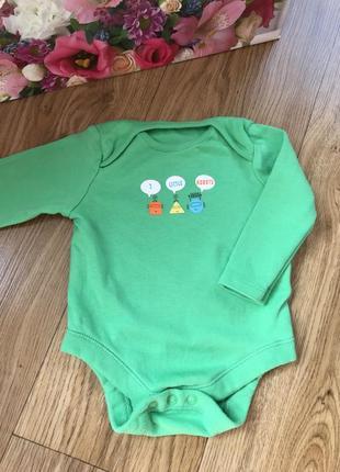 Красивый качественный хлопковый боди длинный рукав для новорожденных
