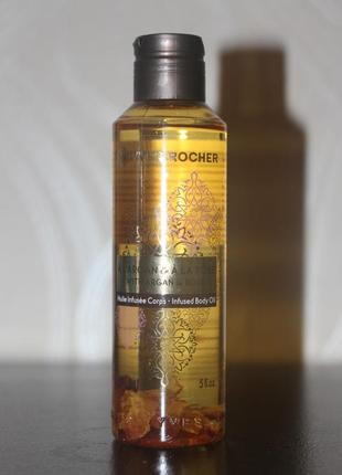 Массажное масло для тела с лепестками аргания - роза  ив роше