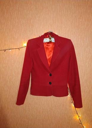 Красивый пиджак цвет марсала красный кошемир