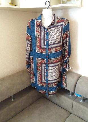 Платье рубашка орнамент бохо стиль