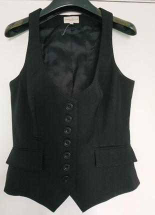 Классический жилет , шерсть /36/s/ karen millen