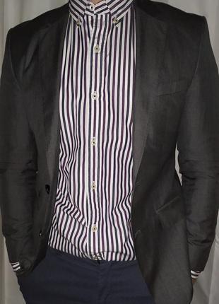 Hugo boss пиджак 48 размер шерсть шёлк