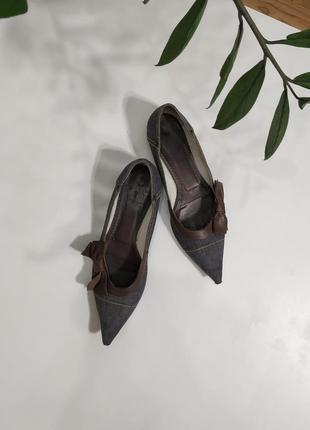 Джинсовые туфельки с бантиком