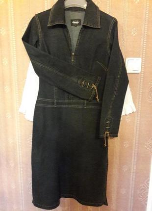 Крутое джинсовое платье стрейч