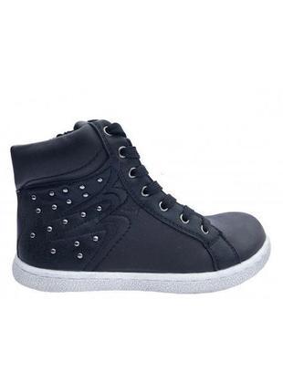 Детские ботинки apawwa черные. бесплатная доставка