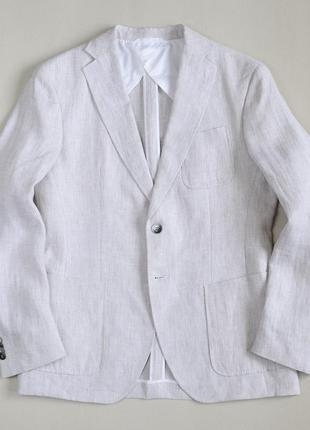 Льняной блейзер пиджак hugo boss