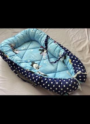 Кокон гнёздышко для новорождённых с подушкой
