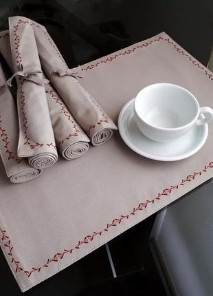Тканые салфетки, коврики на стол, подтарельники - tcm tchibo германия
