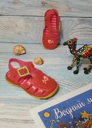 Резиновые силиконовые сандали шлепанцы босоножки джели для бассейна аквашузы