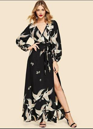 Шикарное платье-макси на запах