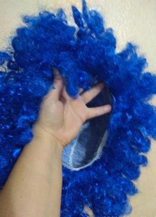 Парик синего цвета