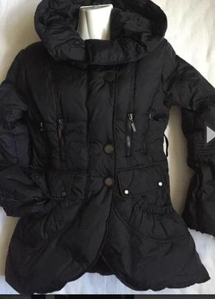 Супер курточка пуховик черная раз s (44/46)