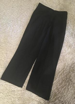 Базовые широкие брюки колоты укороченные