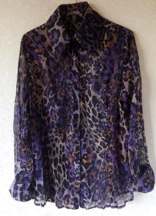 Леопардовая блуза bandolera