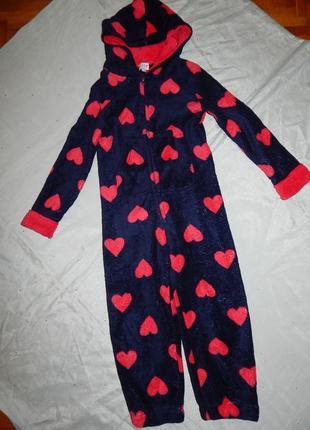 Пижама человечек слип кигурими плюшевый на девочку 7-8 лет