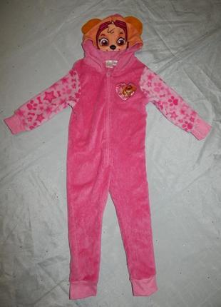 Слип пижама плюшевый человечек на девочку 2-3 года