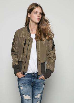 Куртка-пилот bershka хаки