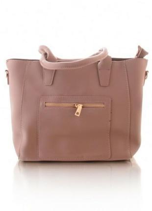Стильная бежевая сумка сумочка с короткими ручками хит сезона