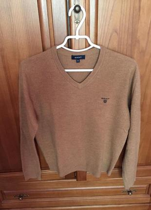 Кофта свитер gant шерсть m l размер оригинал