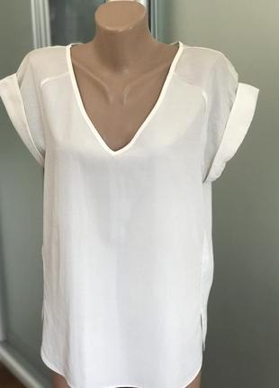 Белая  блузка блуза футболка