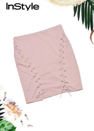 Мини юбка с завязками in the style