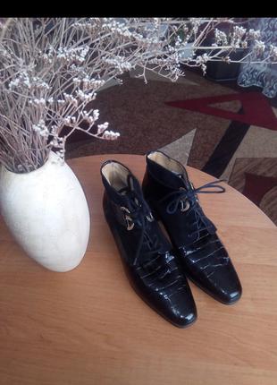 Элегантные кожаные ботиночки elastomere франция,р.37