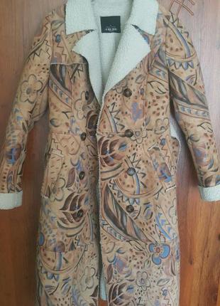 Пальто, искусственная дубленка