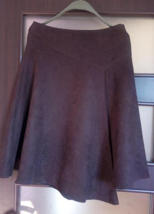 Распродажа...демисезонная юбка искусственная замша от dorothy perkins 44 размер