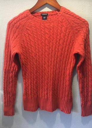 Теплый свитер шерсть популярного американского бренда1 фото