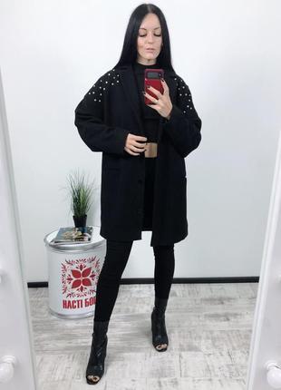 Пальто оверсайз шерстяное шерсть asos