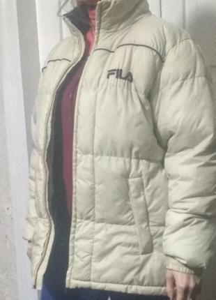 Куртка пуховик ( юнисекс )  известной фирмы fila оригинал