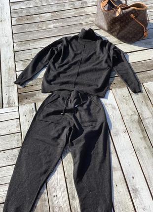 Супер тёплый мягкий костюмчик кашемир вязка7 фото