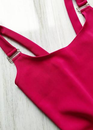 Яркое розовое платье по фигуре 🔥3 фото