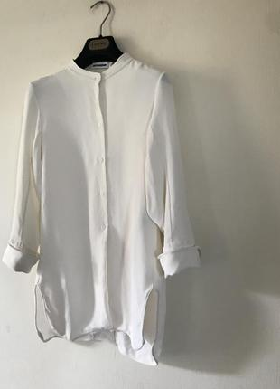 Jil sander шелковая блуза3 фото