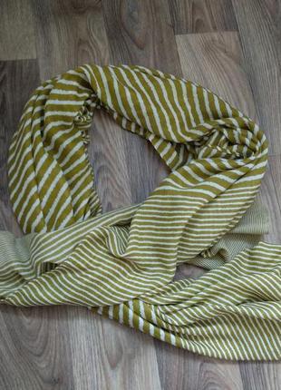 Шарф платок в полоску1 фото