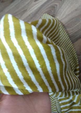 Шарф платок в полоску3 фото