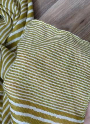 Шарф платок в полоску4 фото