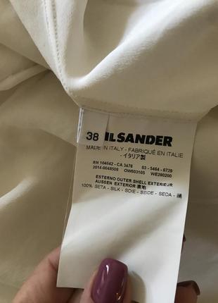 Jil sander шелковая блуза4 фото